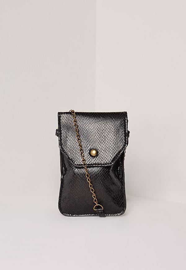 Croc Festival Phone Bag Black