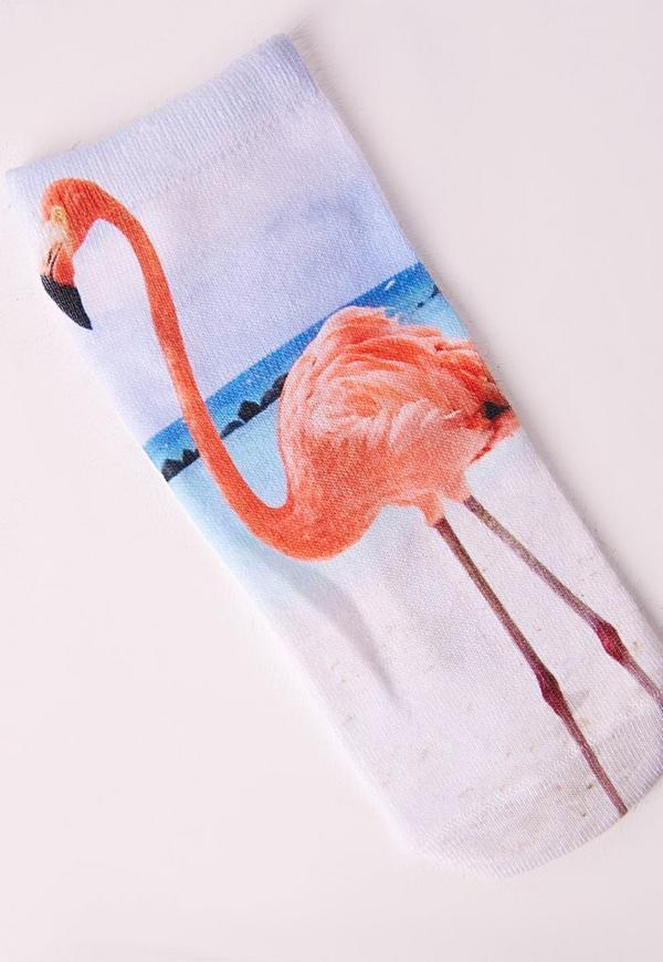 Flamingo Ankle Socks Pink