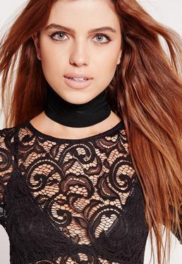 Slinky Choker Necklace Black