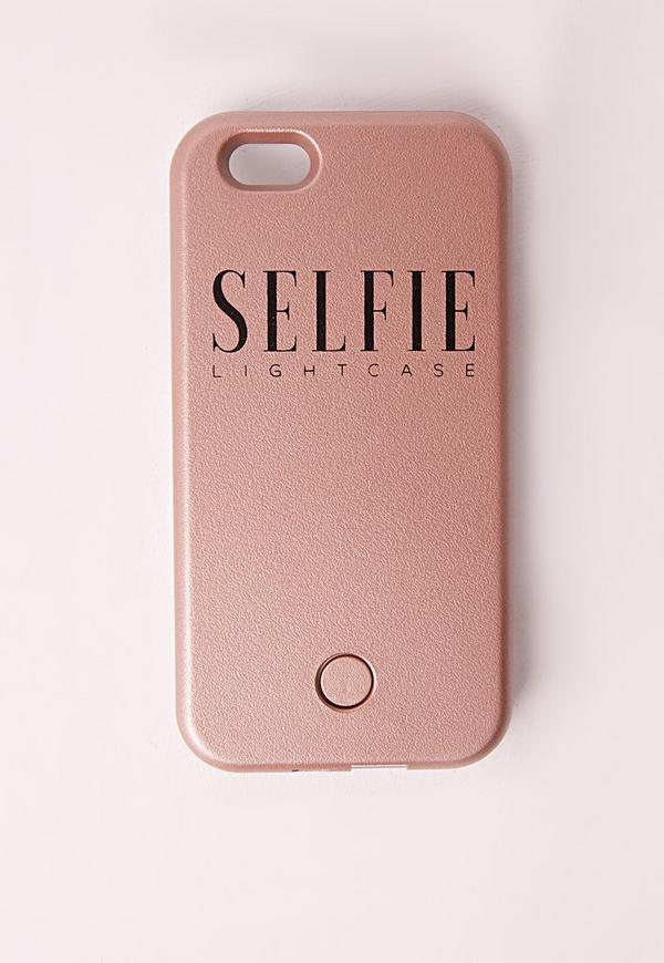 Selfie Light Up iPhone 6 Case Rose Gold