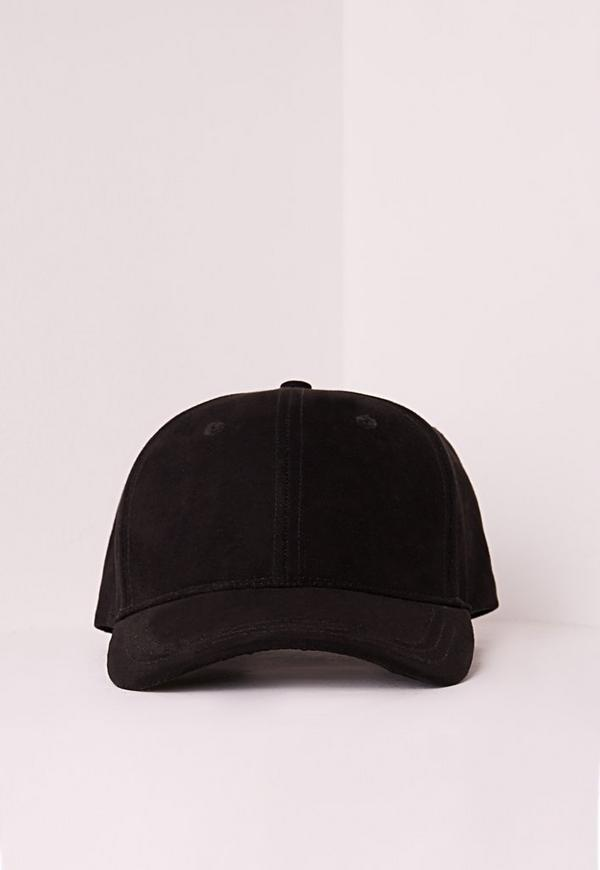 Faux Suede Baseball Cap Black Missguided