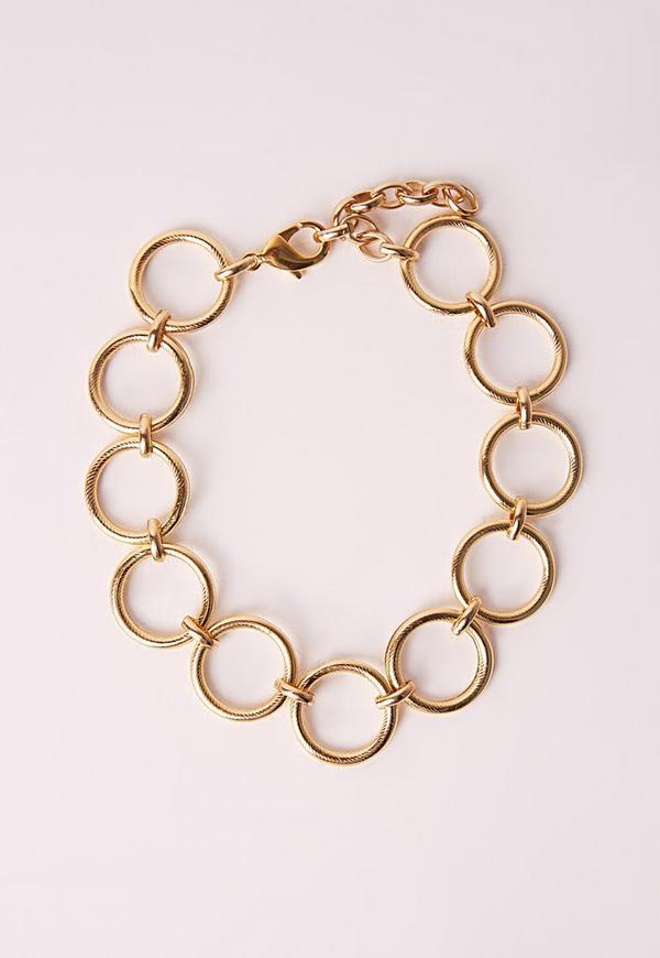 Circle Choker Necklace Gold