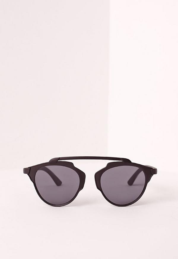T-Bar Matte Sunglasses Black
