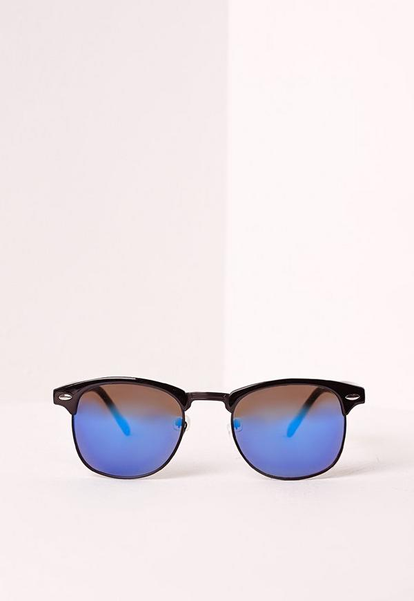 Half Frame Sunglasses Blue