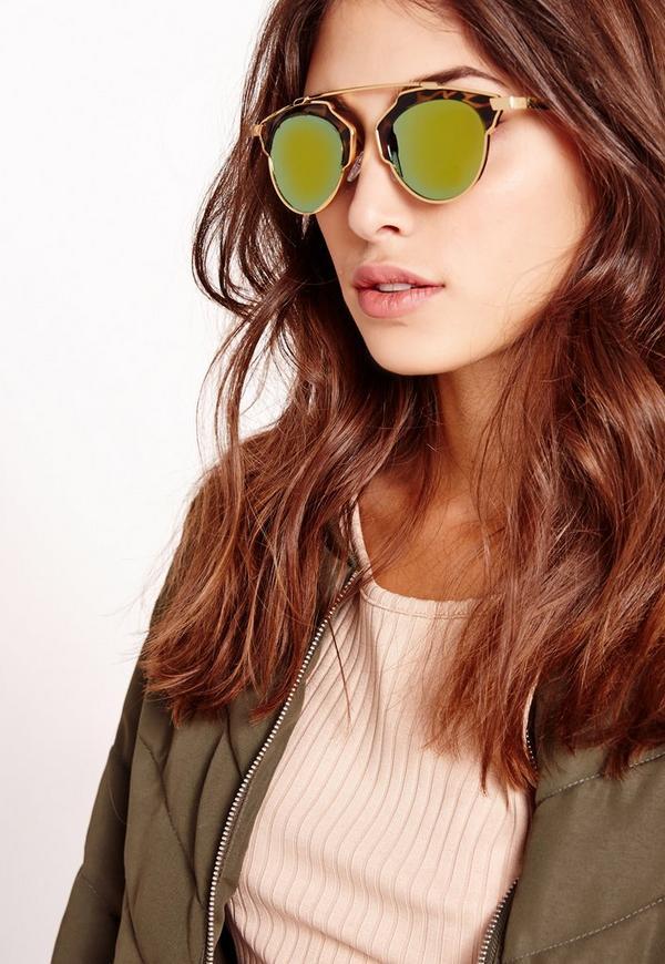 T-Bar Leopard Sunglasses Brown