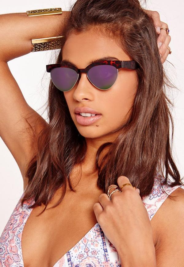 Tortoise Shell Revo Lens Sunglasses Brown