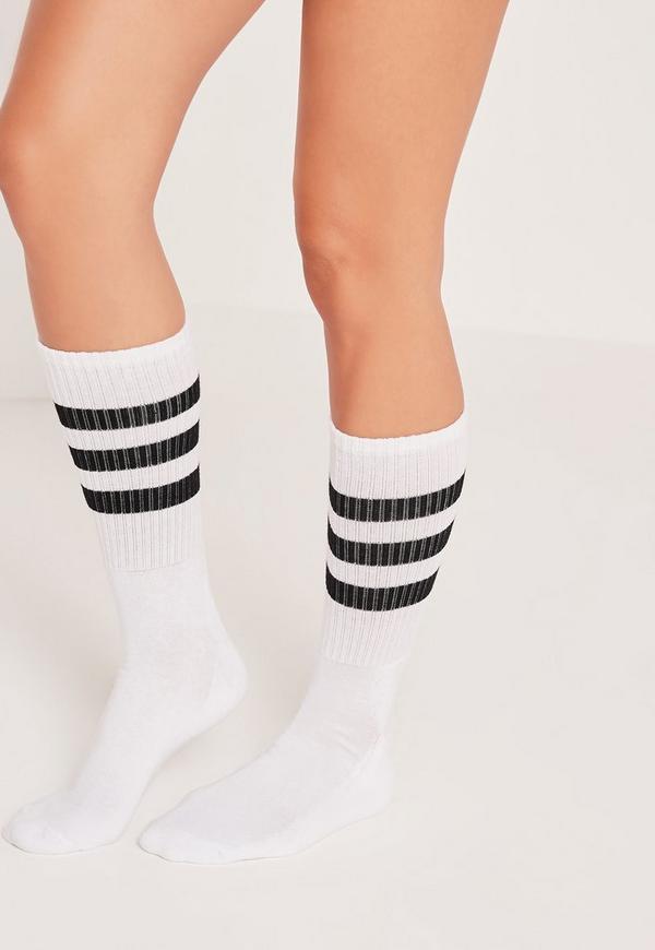 Three Stripe Sports Socks Black