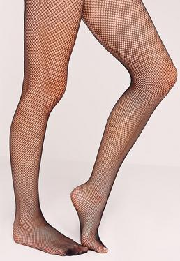 Black Fine Fishnet Stockings