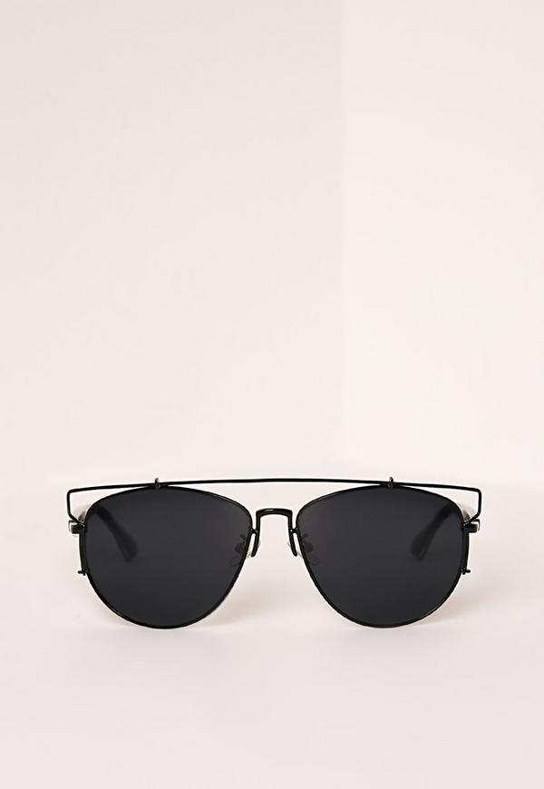 Wire Frame Sunglasses Black