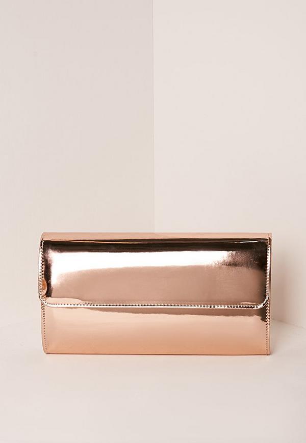 Round Edge Clutch Bag Rose Gold Previous Next
