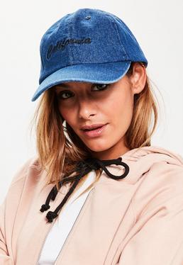 Niebieska jeansowa czapka z daszkiem California