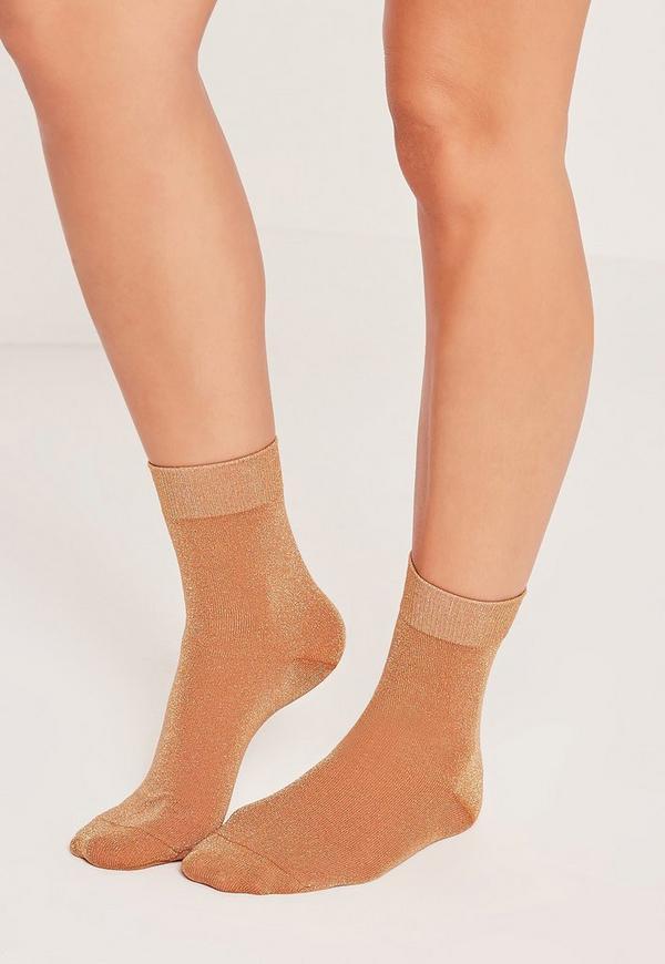 Glitter Socks Orange