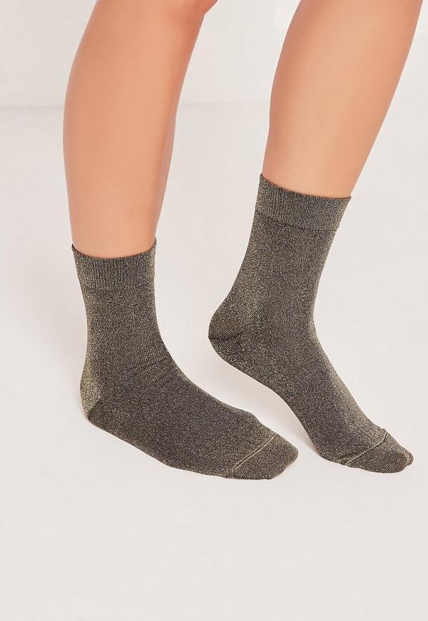 Glitter Socks Black