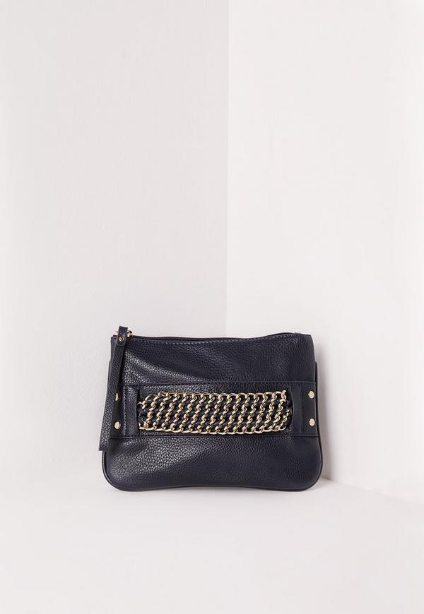 Chain Strap Mini Grab Bag Navy