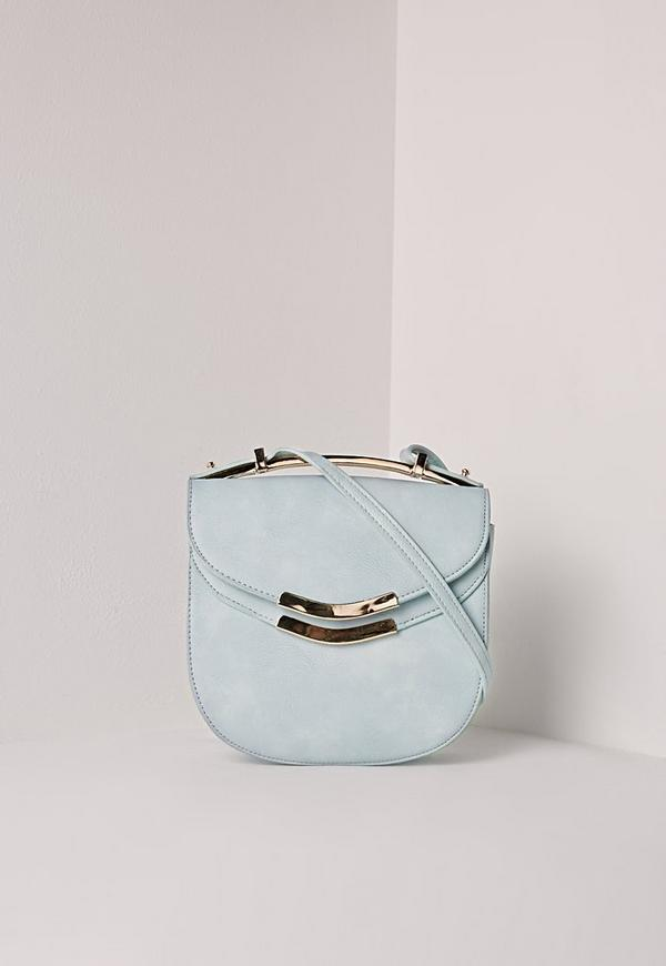 Metal Top Saddle Bag Blue
