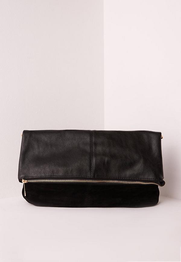 Fold Over Bag Black