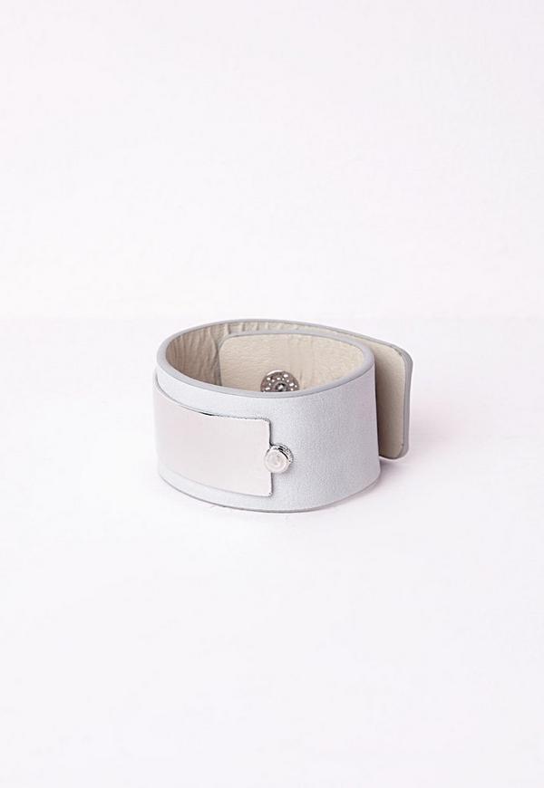 Plated Trim Cuff Silver