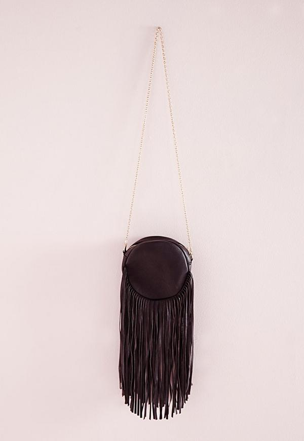 Circle Tassel Bag Black