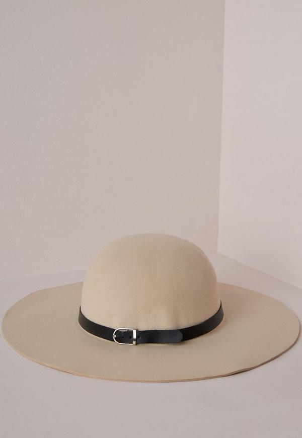 Floppy Hat Buckle Trim Cream