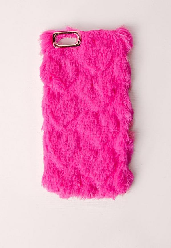 Fluffy Villi Fur Plush Wool Bling Case Cover Skin For ...