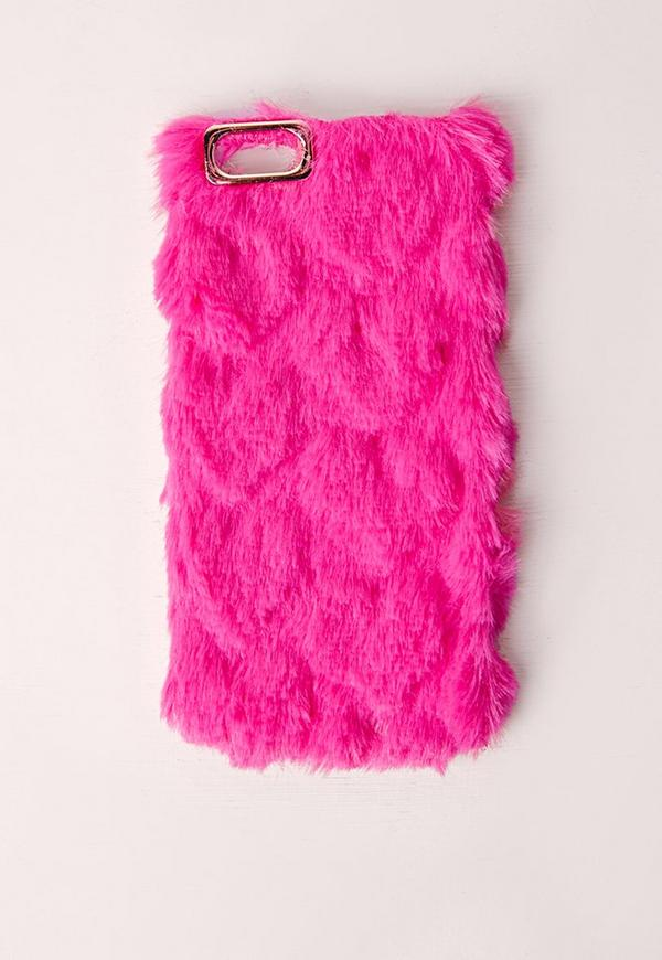 Fluffy iPhone 5 Case Hot Pink