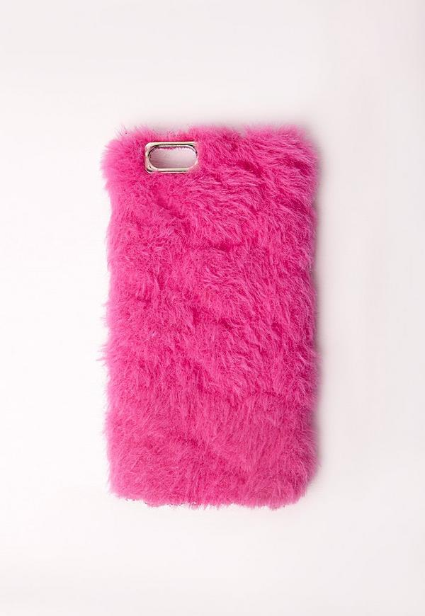 Fluffy iPhone 6 Case Hot Pink
