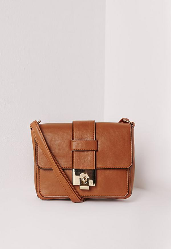 Mini Buckle Crossbody Bag Tan