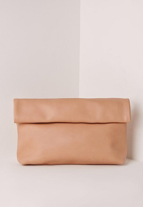 Roll Top Clutch Blush