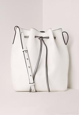 bucket bag white