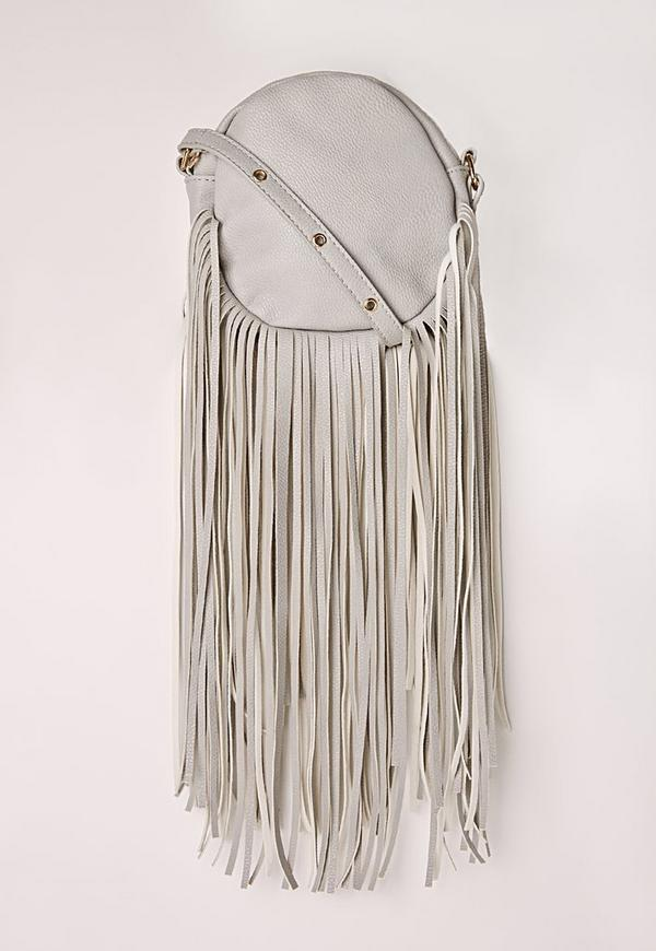 Long Tassel Circle Bag Grey