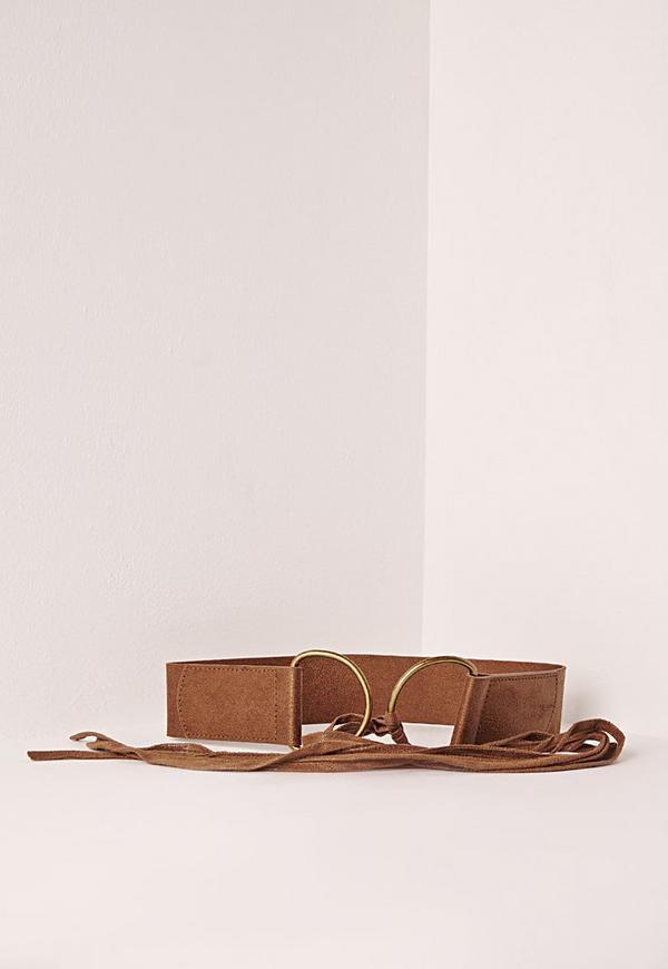 Double Ring Tie Belt Tan