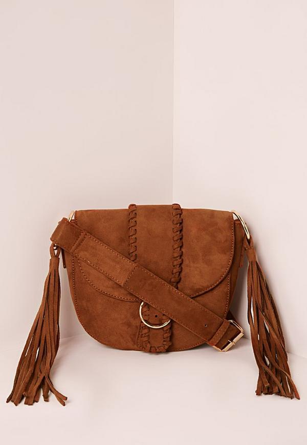 Buckle Fastening Shoulder Bag Tan