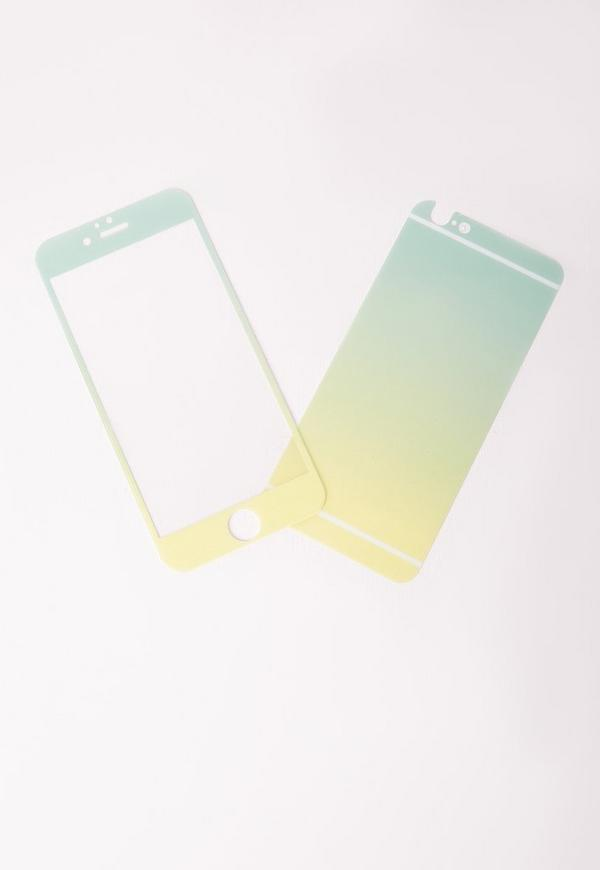 iphone 6 ombre glitter phone screen protector mint