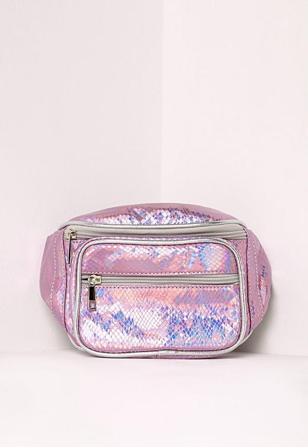 Holographic Pink Bum Bag
