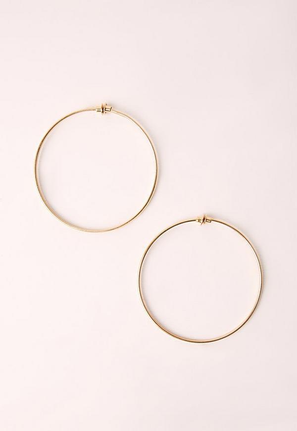 Clip Classic Hoop Earrings Gold
