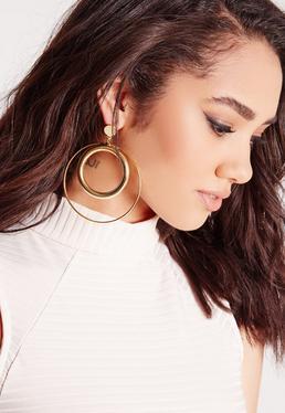 Double Hoop Retro Earrings
