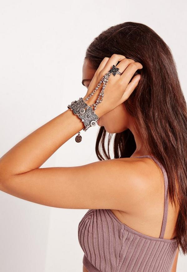 Silver Coin Hand Chain