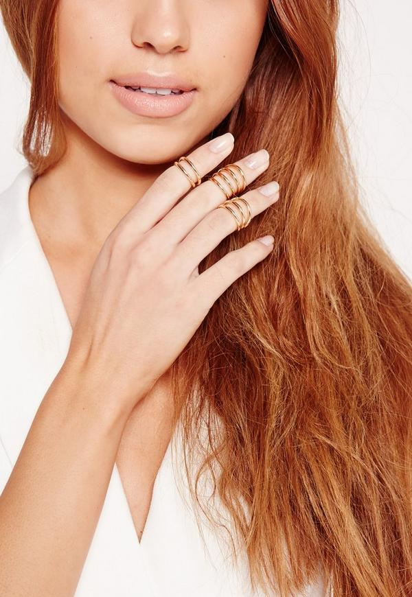 Delicate Three Pack Ring Set