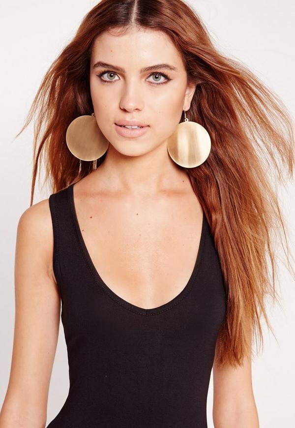 Disc Earrings Gold