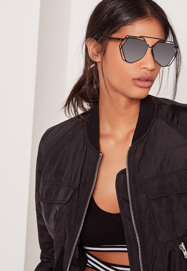 Metal Frame Sunglasses Black