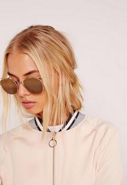 Metal Frame Sunglasses Gold