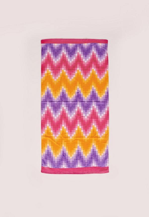 Zig Zag Towel Multi