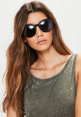 Schwarze Metallrahmen Sonnenbrille