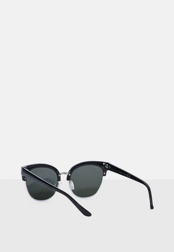 Black Half Frame Glasses : Black Half Frame Sunglasses Missguided Australia