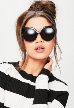 Czarne owersajzowe okulary przeciwsłoneczne