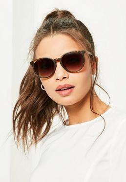 Brown Tortoise Shell Club Sunglasses