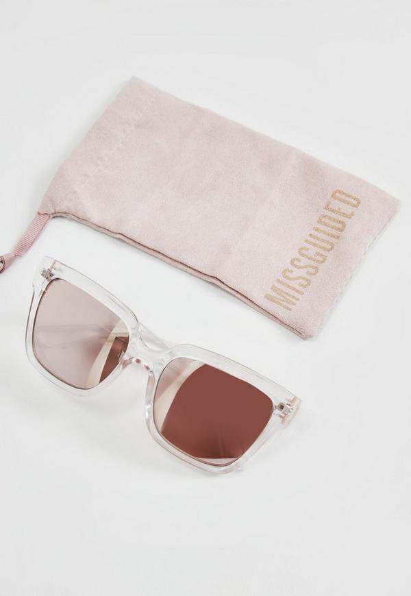 rose gold clear frame sunglasses 1500 previous next