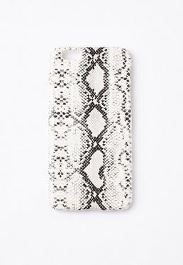 Coque pour iPhone 6 blanche imprimé serpent