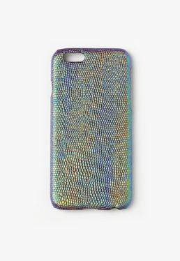 Blue Croc Effect iPhone 6 Case