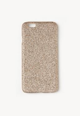 Hülle für iPhone 6 mit Glitter in Gold